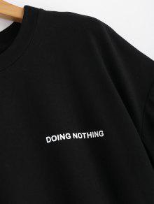 Vestido M De Cintas Camiseta Negro De La De Letras zZzxgqOwr