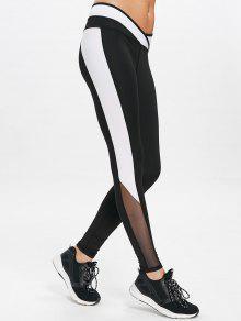 شبكة لوحة الرياضة تجريب اللباس الداخلي - أسود S