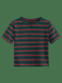 Cortada Rayas S Camiseta Verde Mediana A Mar 1qxvfaOz