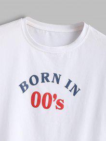Estampada Cuello M Con Camiseta Redondo Multicolor a 6FdBxS1n