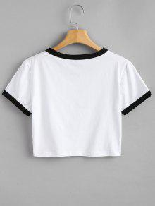 Estampado De Camiseta S Con Blanco Letras Oqxx5wzvU
