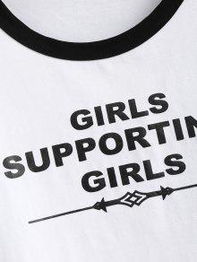 Camiseta Estampado Blanco Con S Letras De qa7wTqHnSP