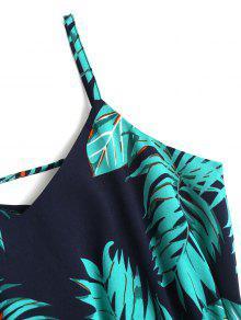 De Vestido Tropical Mini Y Verano S Azul Estampado Marino Swing Con Vuelo rrwdgq