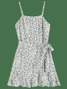 Superpuestas Hojas Blanco Vestido M Slip De q6waRY
