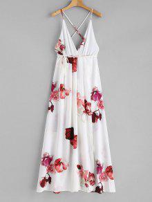 فستان عاري الكتفين - أبيض L