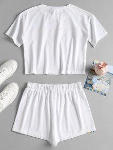 Cortos A Pantalones De S Conjunto Rayas Blanco Rayadas U1qPnW