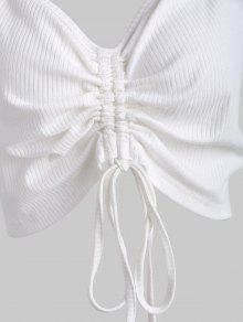 Fruncidos Blanco Pliegues Con Talla Grande 4x Camiseta EaqzUwH44