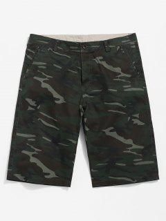 Camouflage Casual Shorts - Camouflage Green 36
