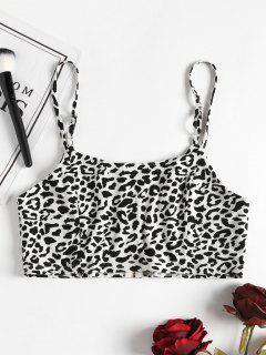Leopard Print Cami Crop  Top - Leopard L