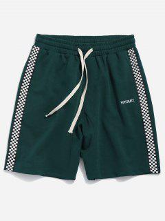 Pantalones Cortos Deportivos De Panel Lateral - Verde De Escarabajo 2xl