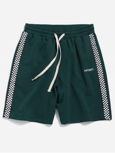 Pantalones cortos deportivos de panel lateral - Verde de Escarabajo L Mobile
