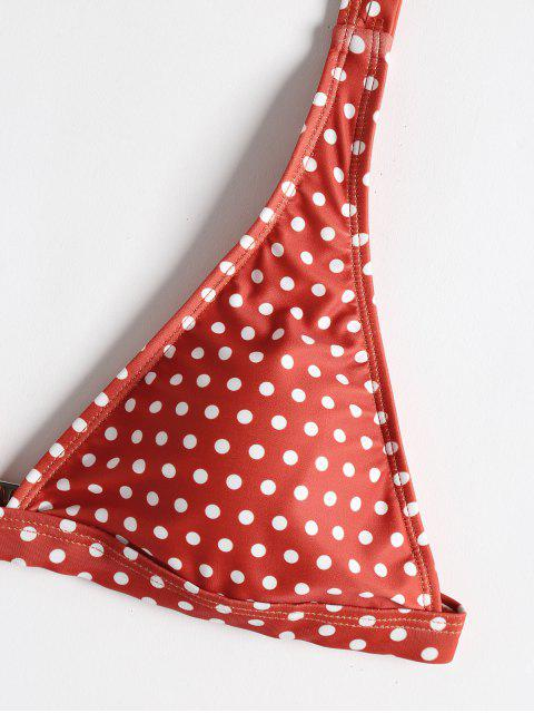 shop Polka Dot String Bikini - CHESTNUT RED S Mobile