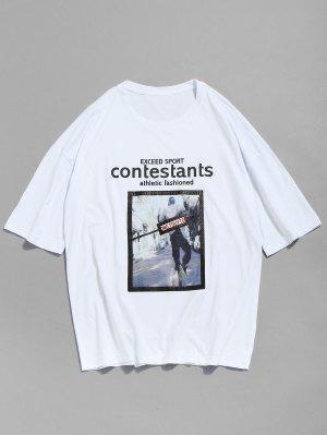 T-shirt avec Motif en Coton