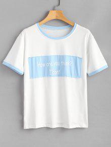 Extragrande Azul Camiseta Estampado Con Xl Texto Estampada De Mariposa rf15wYrq