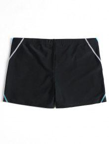70% OFF  2019 Stitching Color Block Swim Trunks In BLACK M  74ff644a3
