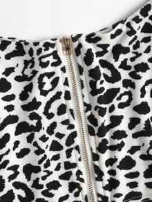 Leopardo Top Estampado Leopardo De L Con Corto Cami qwT6xI4w