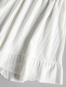 Con Peplum Blanco Combinaci S Top Juego Shorts Volantes 243;n Y De De 8wAq0v