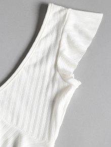 Juego S Top Combinaci Shorts De Volantes Peplum 243;n Con Blanco Y De AqU7SAxw