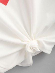 243;n Estampado Camiseta Algod Blanco Corazones De Con Estampada L De 4q1F0qURw