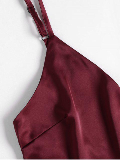 Top Cami E Pantaloncini Set Di Pigiama In Raso - Vino Rosso M Mobile