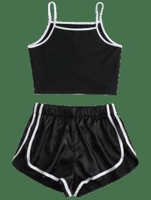 S Corto De 233; 243;n Conjunto Negro Pantal Piqu d07OqBwtx