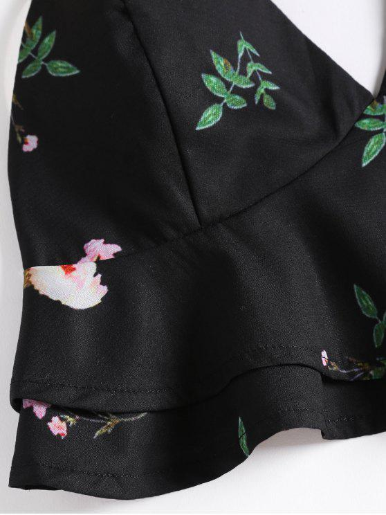 Floral Ruffle Cami Crop Top