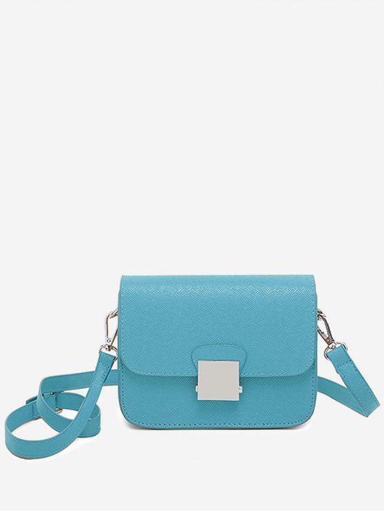 Bolso bandolera minimalista Chic Flapped - Azul