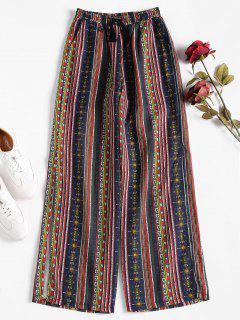 Pantalones Palazzo De Hendidura Ancha - Multicolor Xl