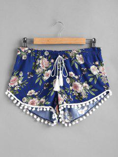 Pompoms Tassels Shorts - Deep Blue