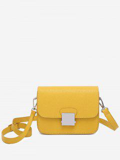 Minimalist Chic Flapped Crossbody Bag - Yellow