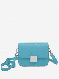 Minimalist Chic Flapped Crossbody Bag - Blue