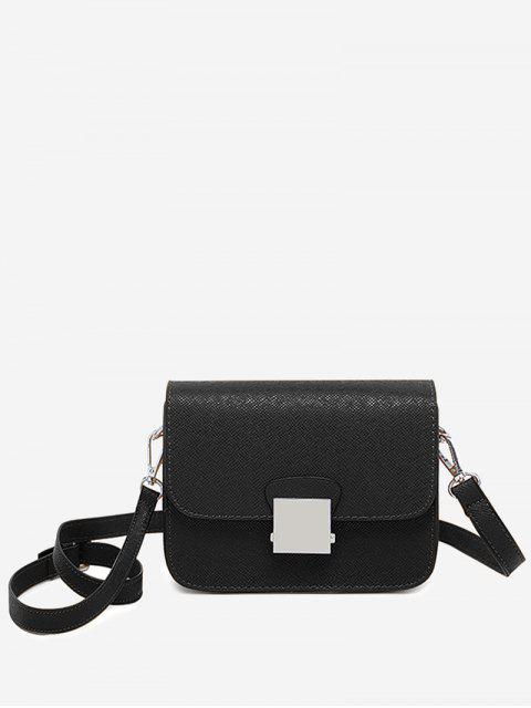 Bolso bandolera minimalista Chic Flapped - Negro  Mobile
