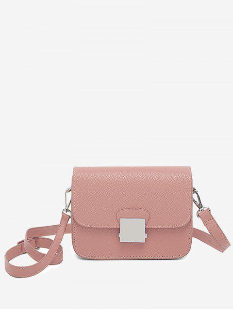 shop Minimalist Chic Flapped Crossbody Bag - PINK  Mobile