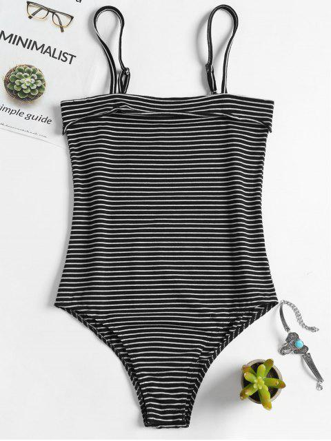 new Cami Striped Bodysuit - BLACK M Mobile