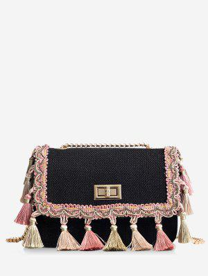 Tribal Tassels Color Block Bolso bandolera