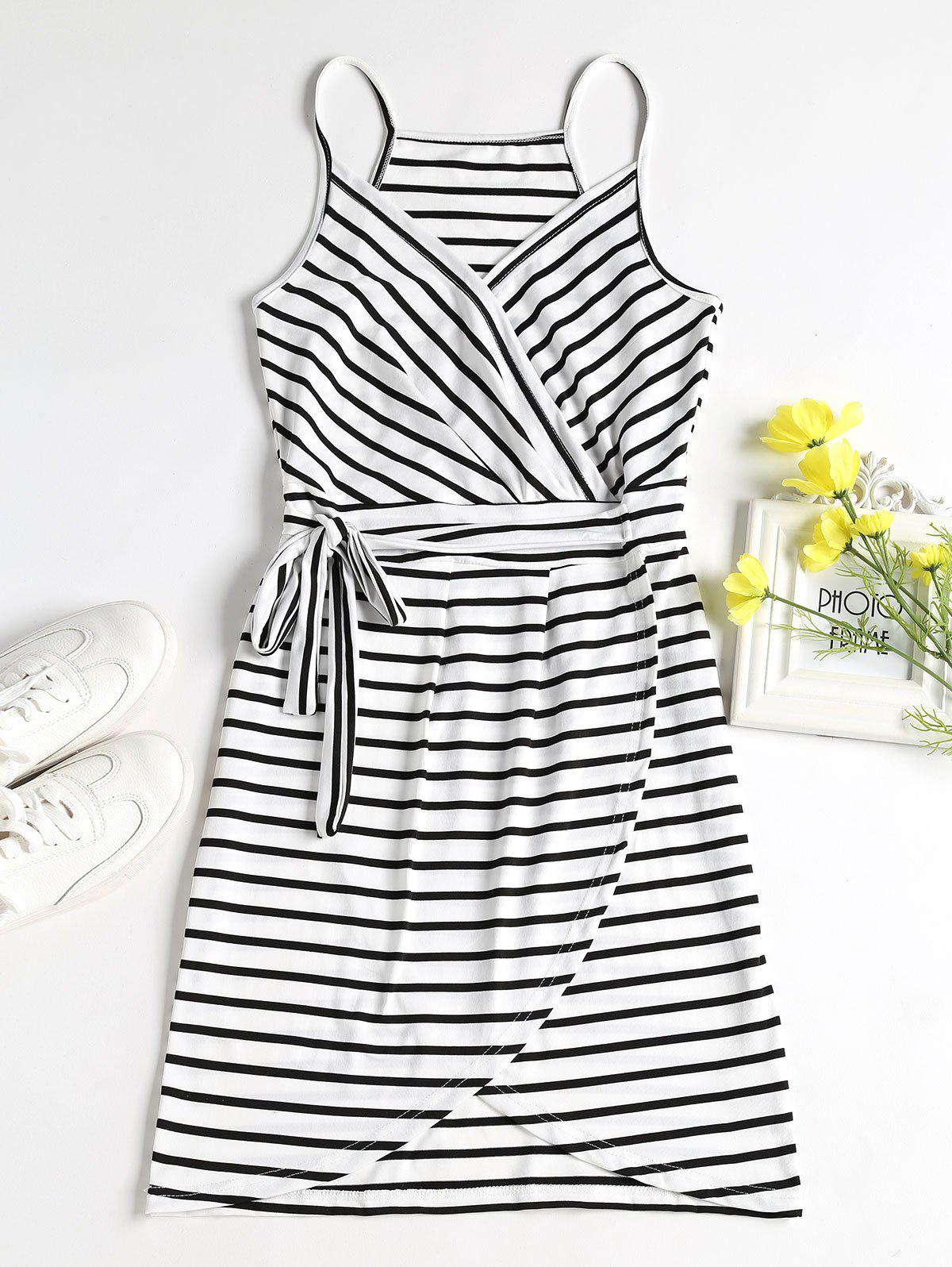 Striped Faux Wrap Mini