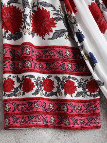 De Hombro S Estampado Vestido Multicolor Floral zdwUWSqx
