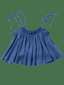 M Deshilachado Oscuro Cami De Denim Top Azul gZqRw