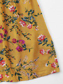 De Vestido Amarillo Estampado Superpuesto L 250;s Autob Floral Con Escolar Estampado rXZqYSnr
