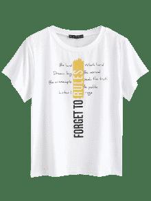 S Gr Cuello Camiseta Con 225;fico De Blanco Redondo wq70q