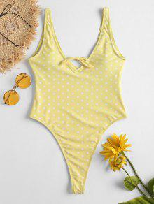 ثونغ طباعة ثونغ ملابس السباحة - الأصفر L