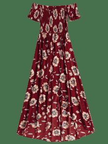 Hombros Largo Vestido Descubiertos Sin Mangas M Cereza Con Rojo TI7vSq7