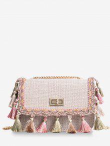 حقيبة كروس بلاتفورم من تريبال تراسل لون - ضوء كاكي