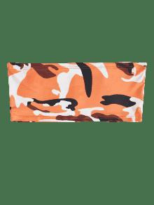 Oscuro De Camo M Tapa Tubo Estampado Naranja Print UqvvxYd