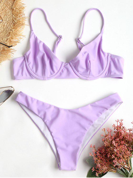 sale Cami High Cut Bikini - MAUVE L