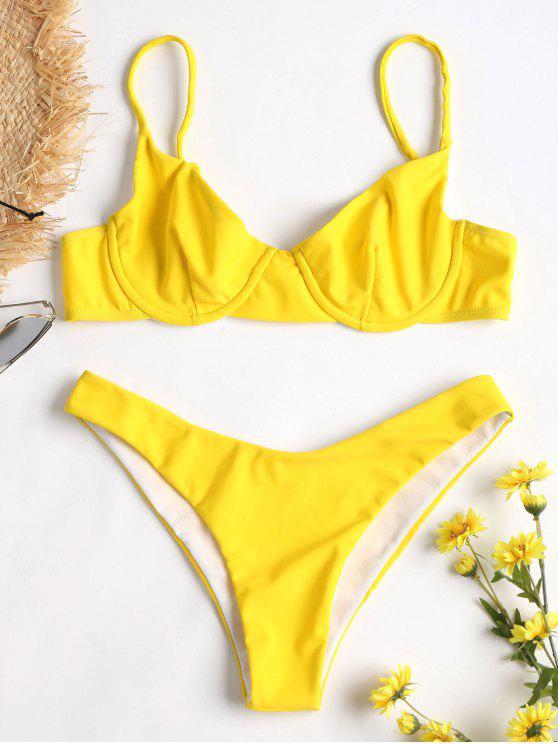 Bikini Con Taglio Alto - Giallo Rubber Ducky L