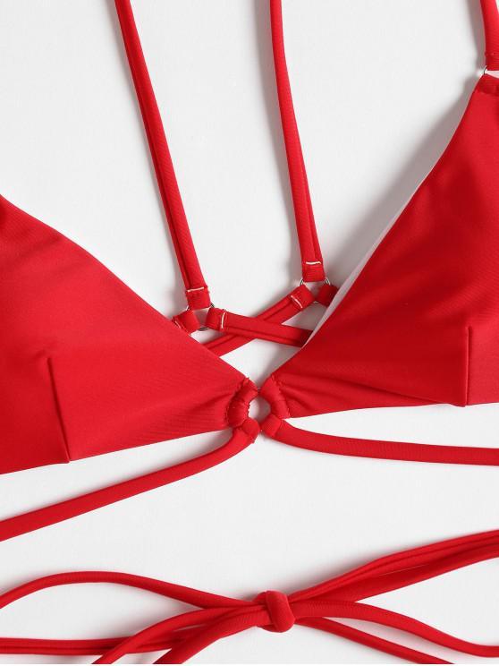 En String BretellesRouge Et À S Ensemble Bikini Ybf6vg7y