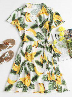 Bananas Wrap Mini Dress - White M