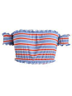 Camiseta Con Rayas De Lechuga Plus Size - Multicolor 5x