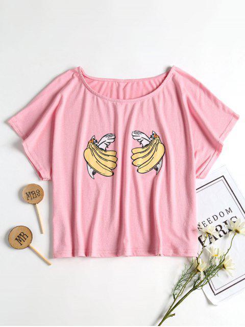 Camiseta de corte en forma de banana Boana Relaxed - Rosa Claro XL Mobile
